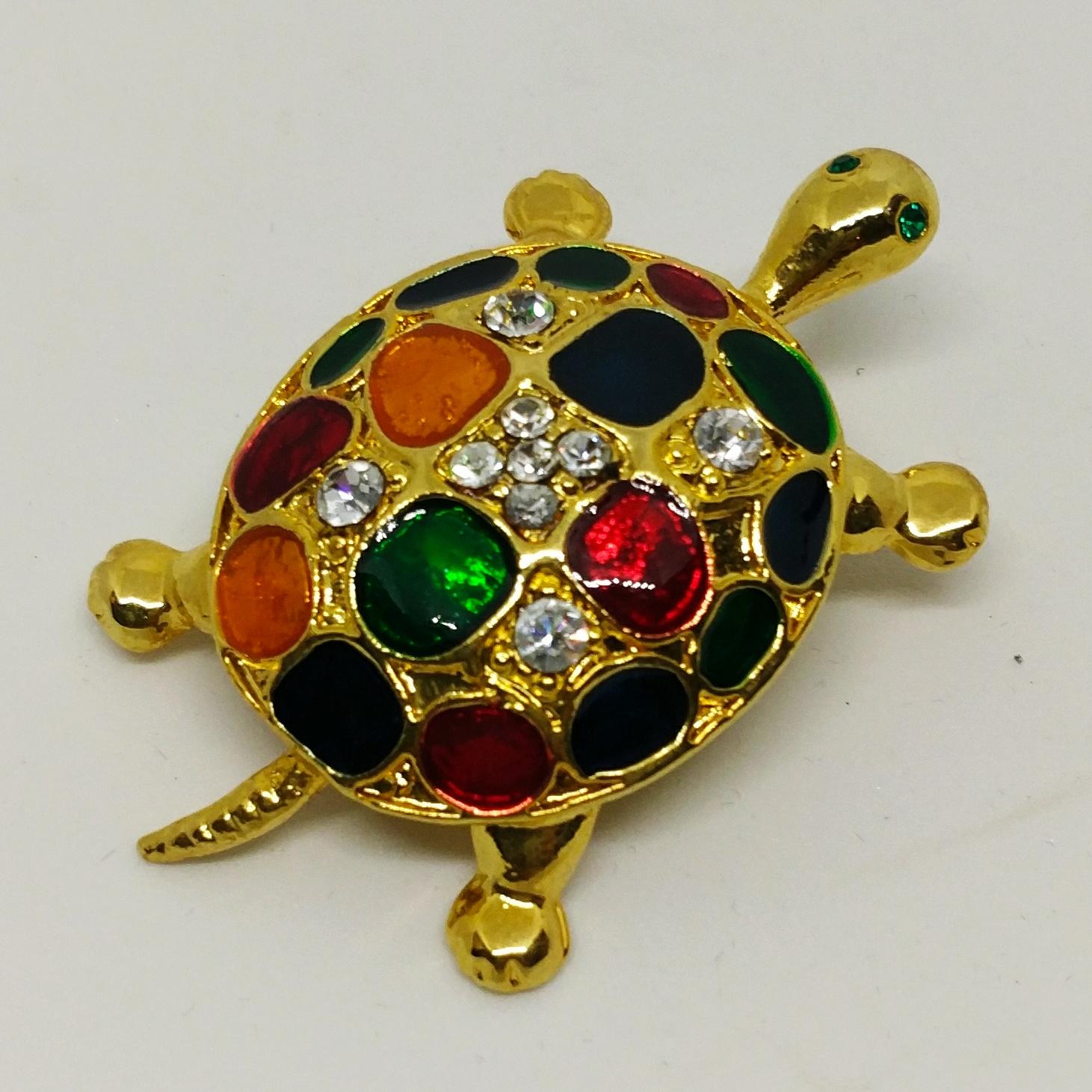 烏龜胸針 (彩繪鑲嵌玻璃)