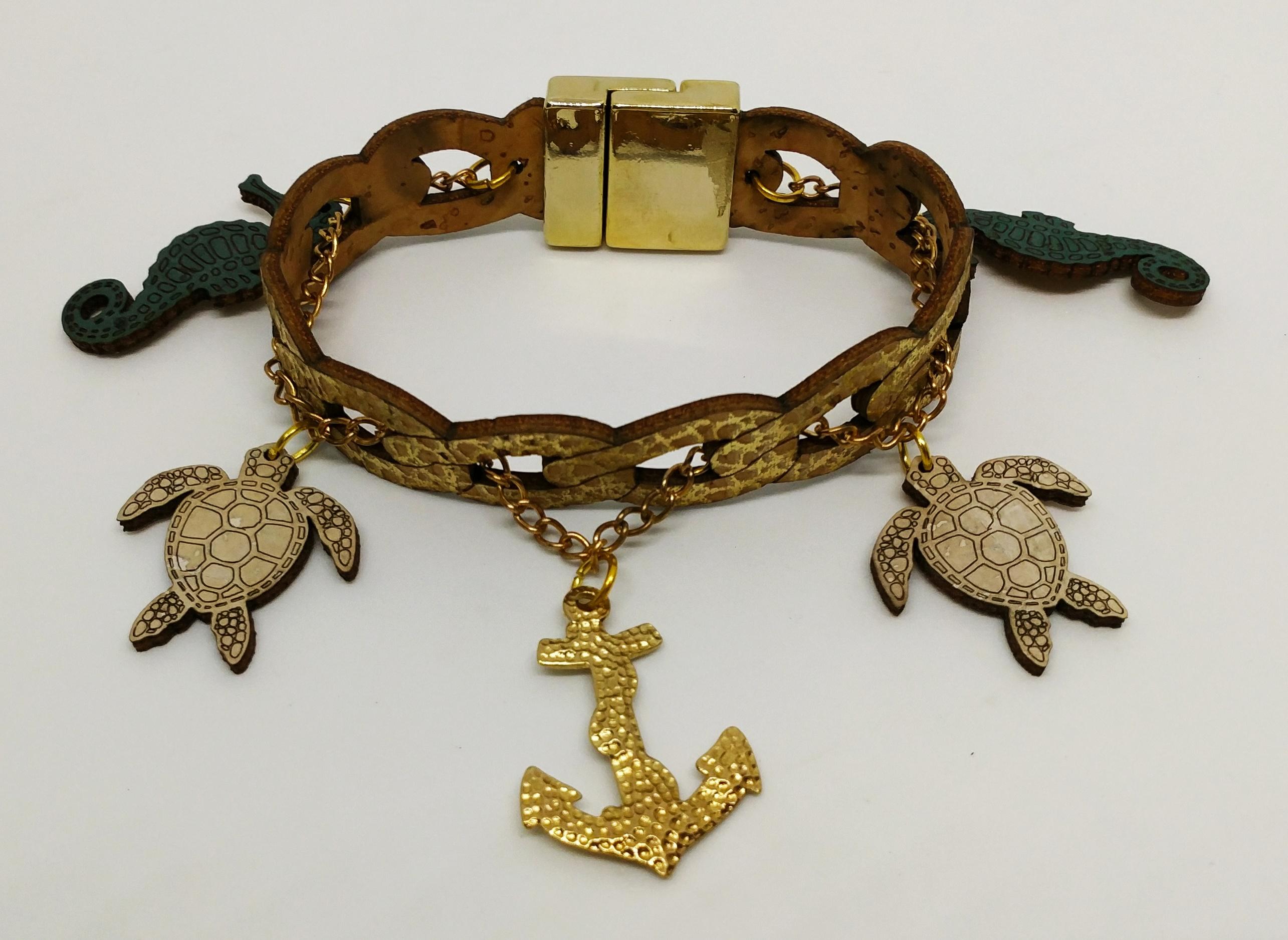 海龜手環 (海馬,海龜,錨)