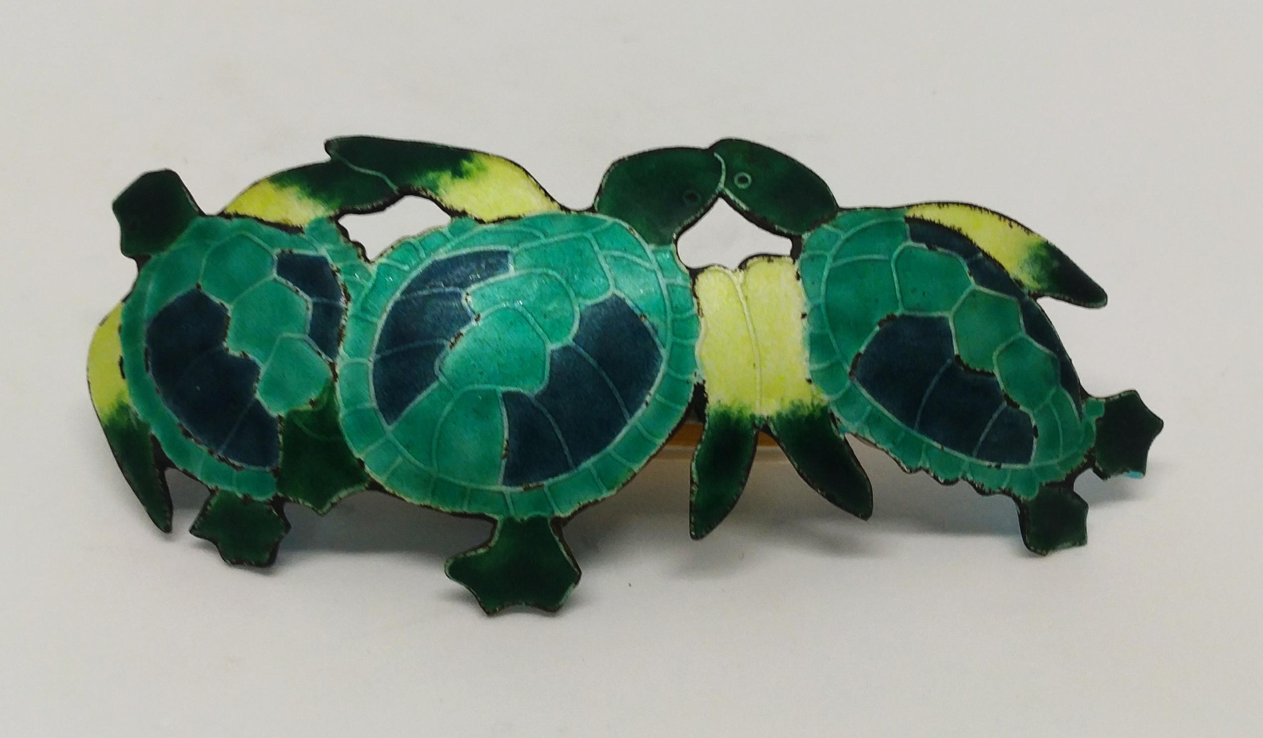 手繪綠蠵龜髮夾