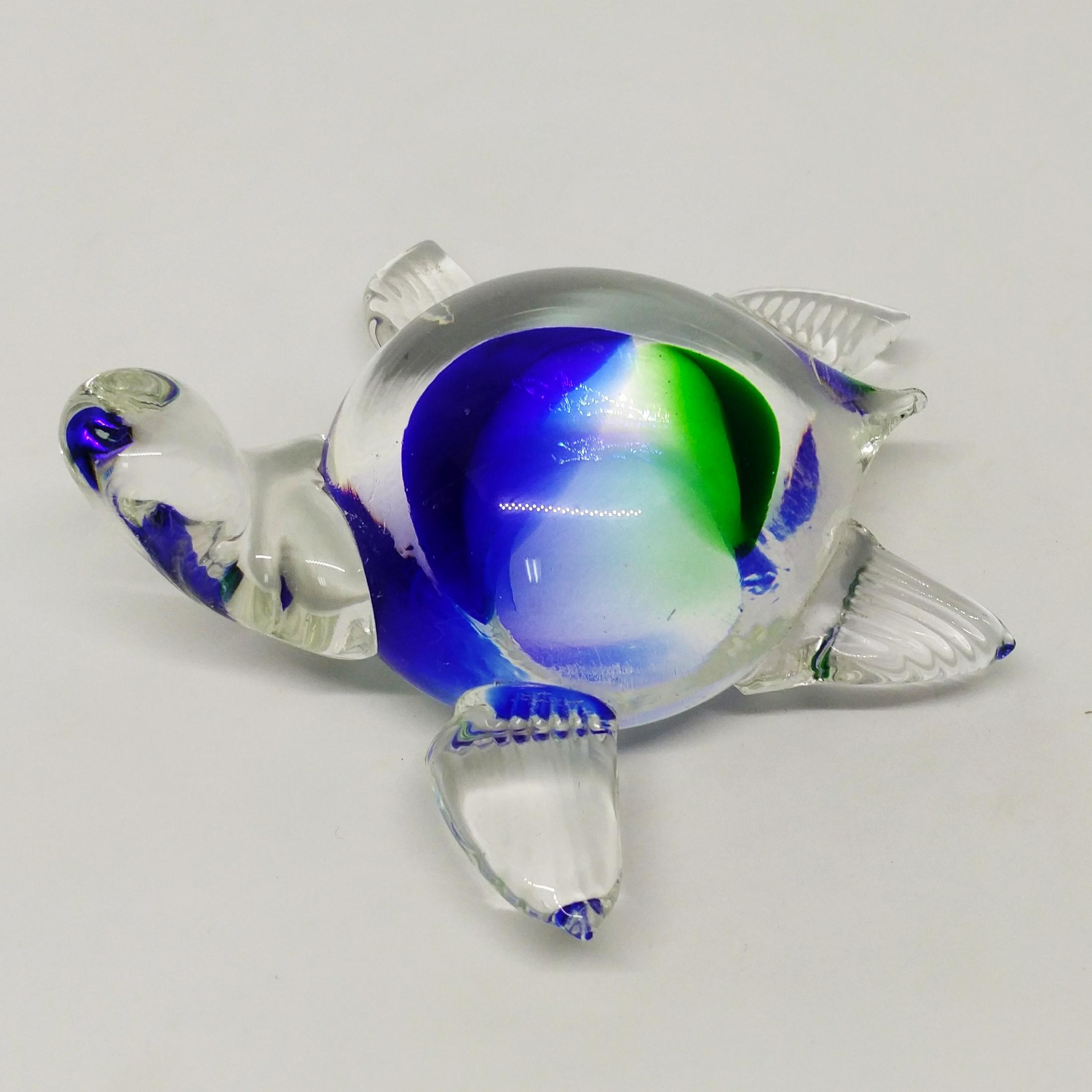 玻璃烏龜 (藍綠)