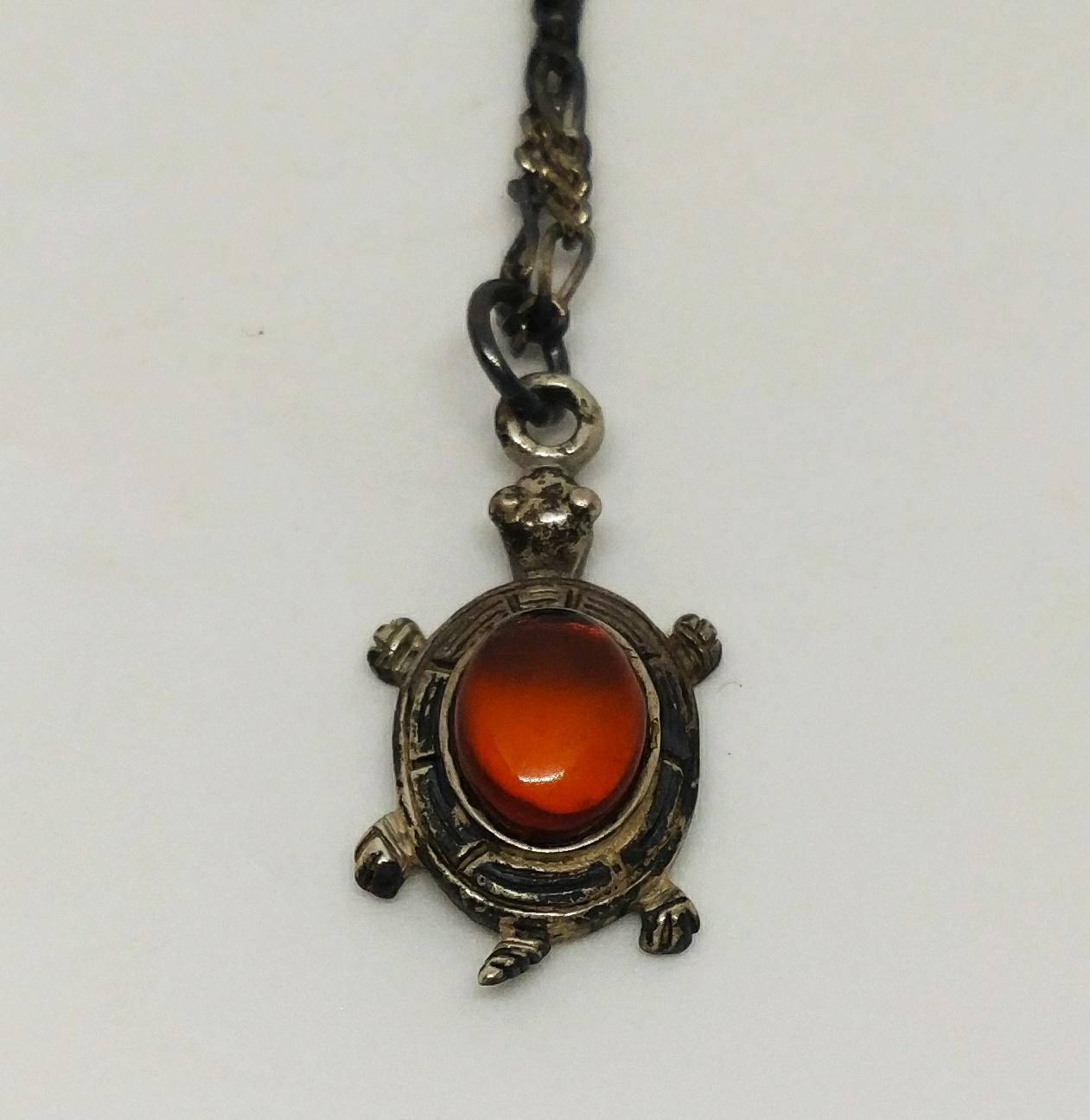 烏龜項鍊 (紅寶石)