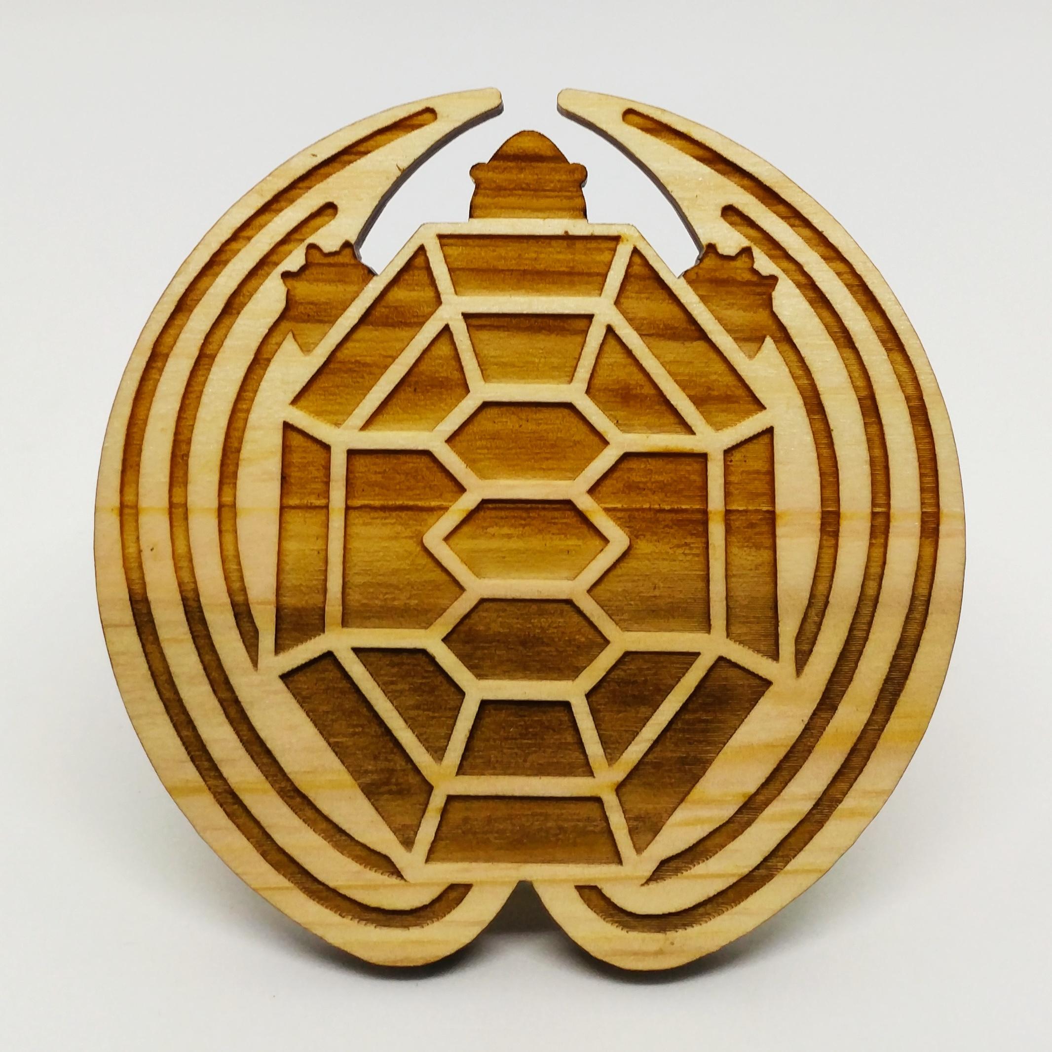 烏龜杯墊 (木)